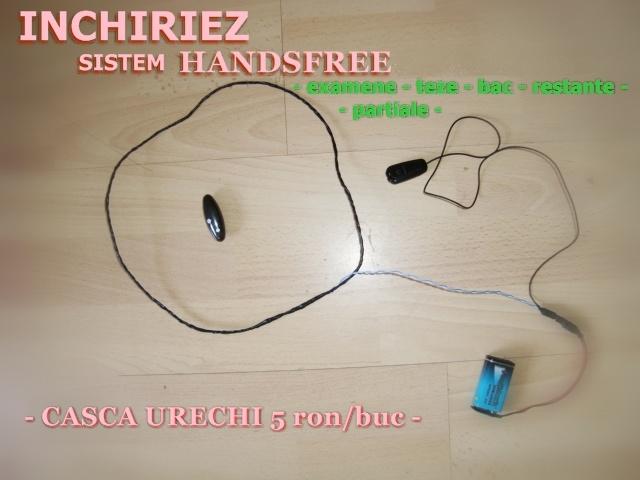 INCHIRIEZ HANDSFREE CASTI (EXAMENE,BAC)