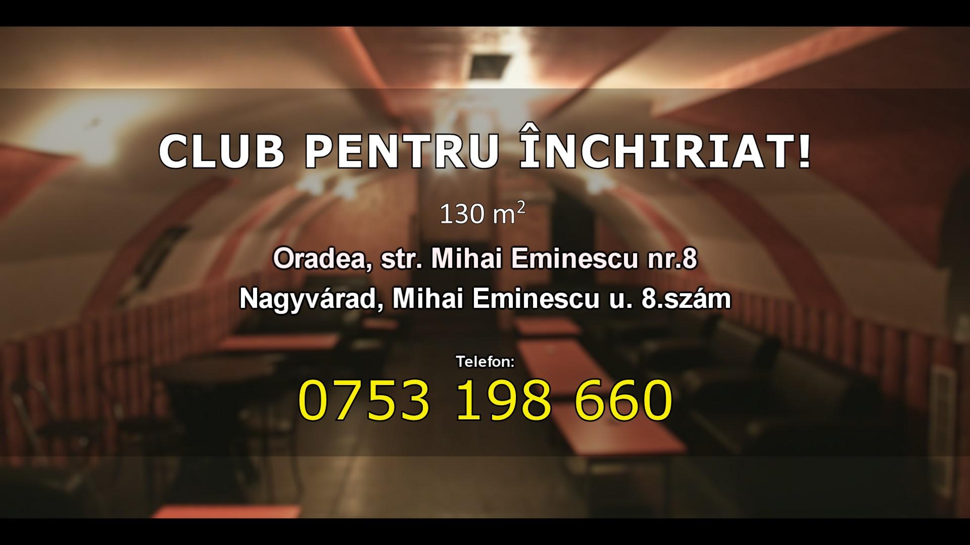 CLUB PENTRU �NCHIRIAT! - KIAD� KLUBHELYS�G!