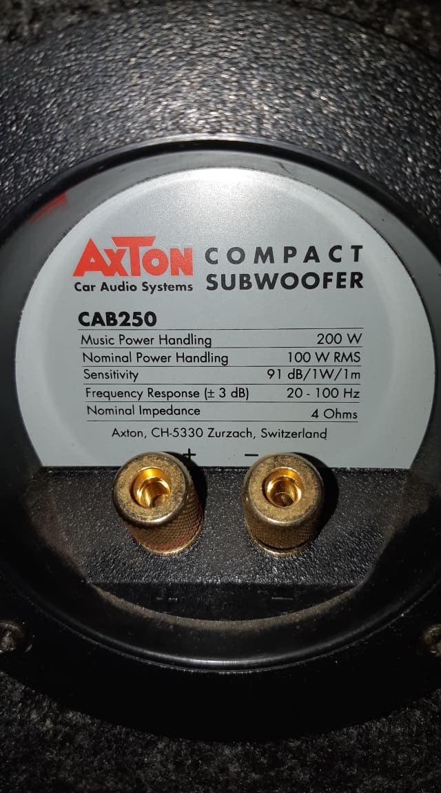 SUBWOOFER AXTON 200 W, 4 OHM