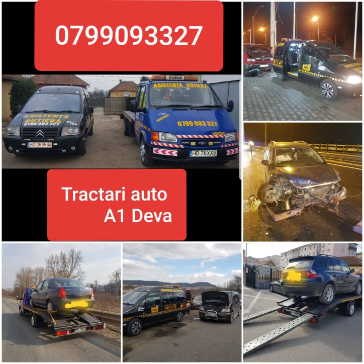 OFERIM TRACTARI AUTO DEVA & ASISTENTA RUTIERA NON-STOP 24/7 - A 1 AUTOSTRADA, DEVA, SIBIU, TIMISOARA