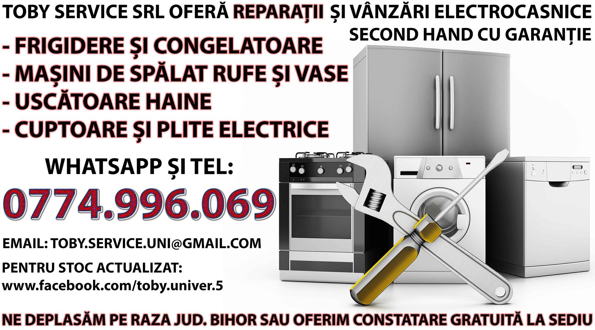 REPARATII ELECTROCASNICE MARI, MASINI DE SPALAT FRIGIDERE ORADEA