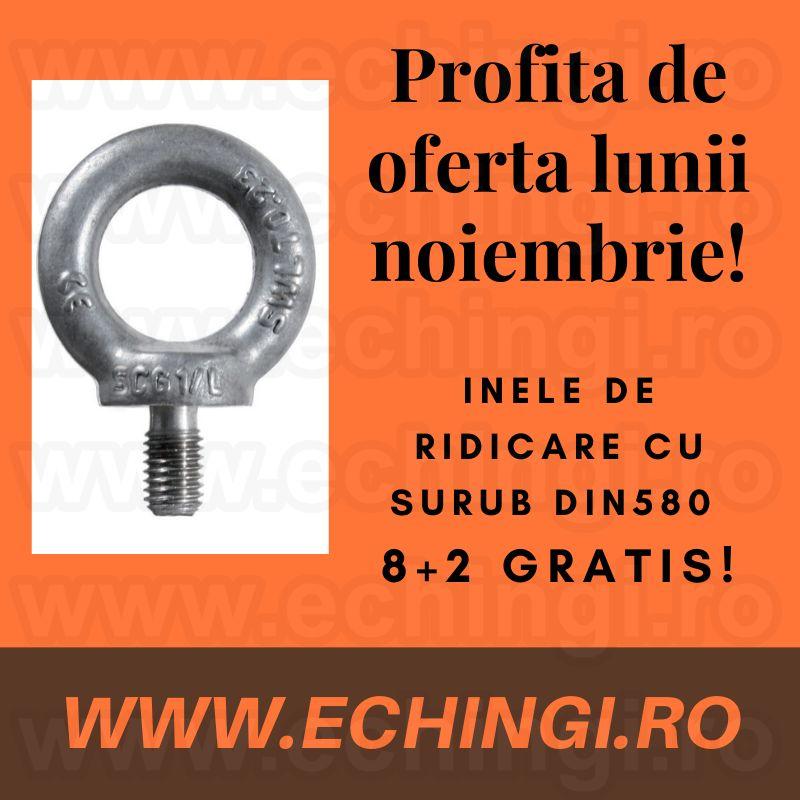 INEL DE RIDICARE CU FILET EXTERIOR DIN 580, 8+2 GRATIS